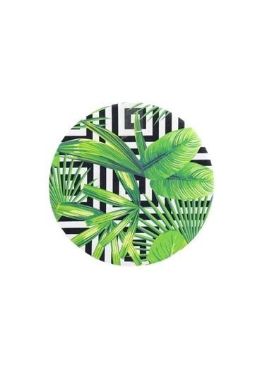 Vadi Vadi Palmiye Desen Ahşap Altlıklı Amerikan Servis Renkli